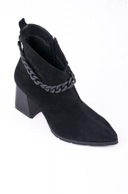 Ботинки с цепочкой на каблуках больших размеров