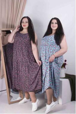 Сарафан-сукня максі принт батал