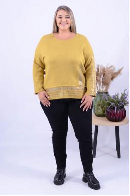Теплий укорочений светр з яскравими написами