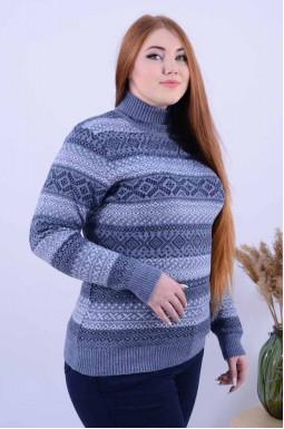Подовжений светр з принтом
