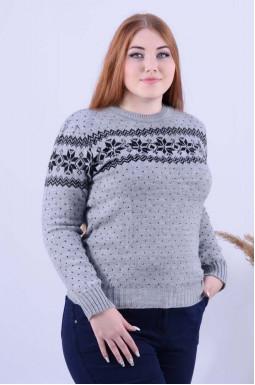 Теплий укорочений светр з орнаментом