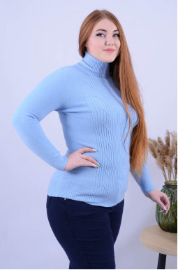 Подовжений однотонний светр з декором