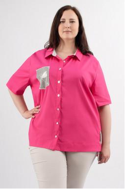 Рубашка длинная прямая супер батал