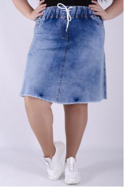 Спідниця джинсова міні батал