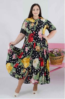 Красива повсякденна сукня батал