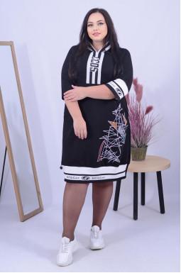 Стильна повсякденна сукня у спортивному стилі батал