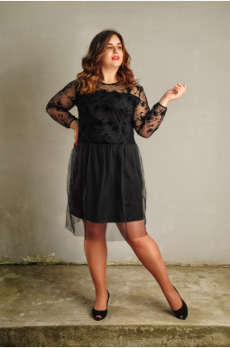 Платье нарядное короткое батал