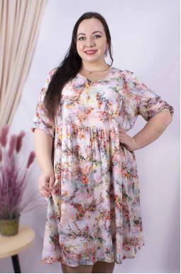 Платье миди в цветах супер батал