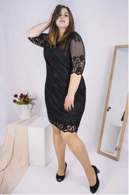 Платье вечернее гипюр батал