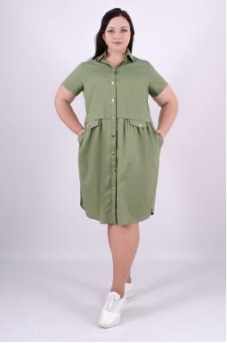Сукня міні сорочка батал