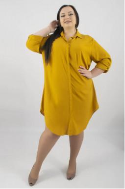 Сукня сорочка міді батал