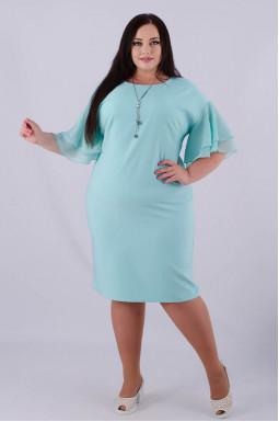 Платье миди батал + украшение