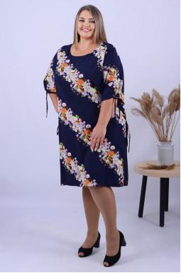 Платье миди с цветочным принтом супер батал