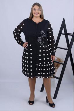 Стильна сукня міді з вишивкою батал