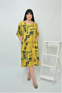 Красива яскрава сукня супер батал