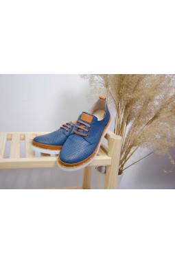 Демисезонные туфли с перфорацией больших размеров
