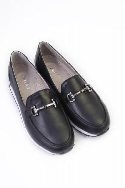 Туфли с аксессуаром кожаные больших размеров