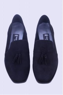 Замшеві туфлі з прикрасою великих розмірів
