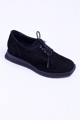 Закриті замшеві туфлі на шнурівці великих розмірів
