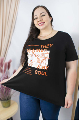 Модна футболка з принтом супер батал