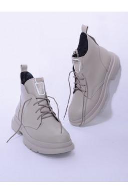 Ботинки однотонные на шнуровке больших размеров