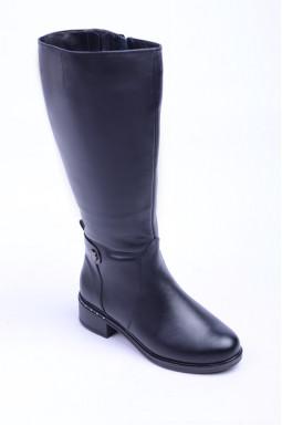 Шкіряні чоботи на підборах великих розмірів