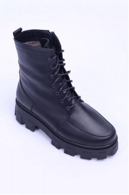 Теплі шкіряні черевики великих розмірів