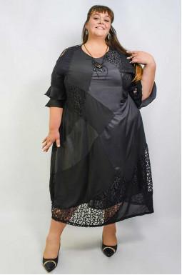 Сукня довга з прикрасою