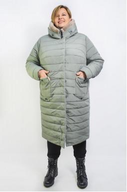 Пальто з хутром мутон
