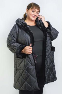 Пальто зимове стьобане супер батал