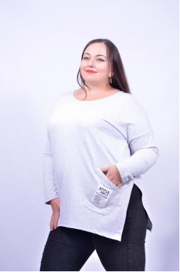 Блуза з довгим рукавом супер батал