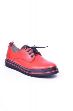 Туфли демисезонные на шнуровке больших размеров