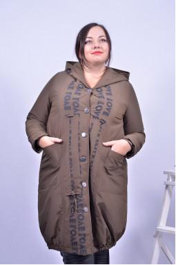 Пальто демісезонне з капюшоном