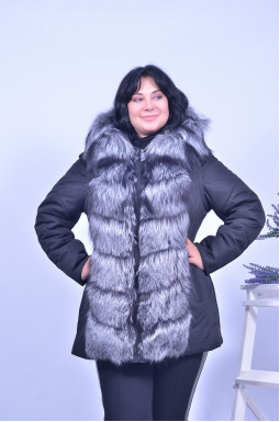 Куртка з хутром чорнобурки