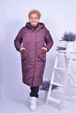 Пальто зимове стьобане з блискавкою та кнопками