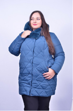 Куртка з хутром мутон