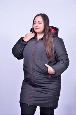 Пальто зимове з капюшоном