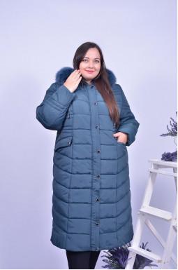 Пальто довге стьобане