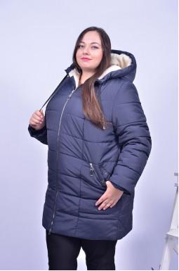 Куртка подовжена на овчині