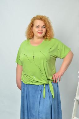 Блуза коротка трикотажна супер батал