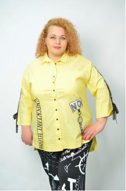 Стильна сорочка з декором супер батал