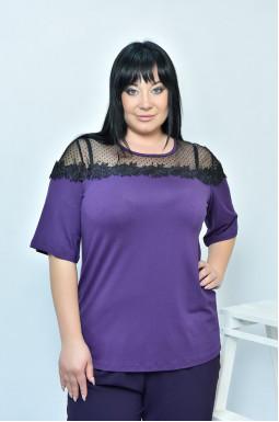 Блуза прямая нарядная батал
