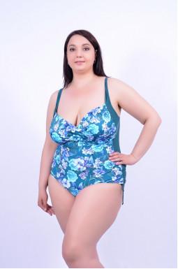 Суцільний яскравий купальник великого розміру