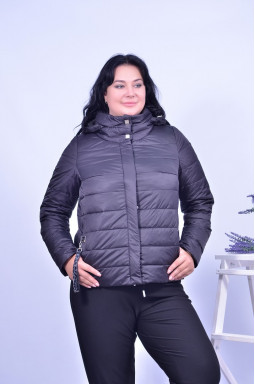 Куртка коротка з капюшоном супер батал