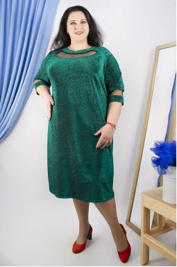 Сукня святкова люрекс супер батал