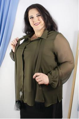 Блуза шифонова батал