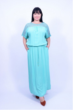 Довга сукня з кишенями супер батал
