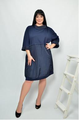 Сукня з рукавом три чверті супер батал