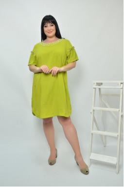 Стильна сукня-туніка батал