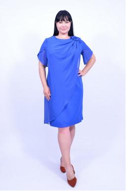 Сукня з шифоновою накидкою батал